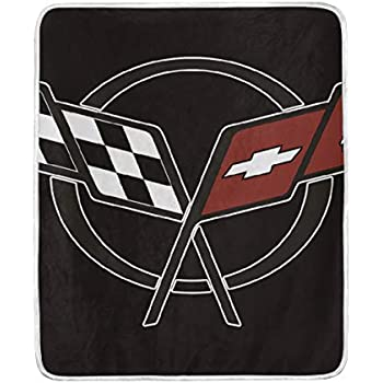 Amazon Com Corvette Shine Chevrolet Fleece Throw