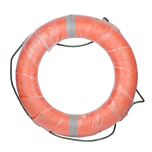 QYLOZ Marine Professional Lifebuoy/Adult Life Swimming Ring/Solid Thick Plastic Lifebuoy (Color : B) by QYLOZ