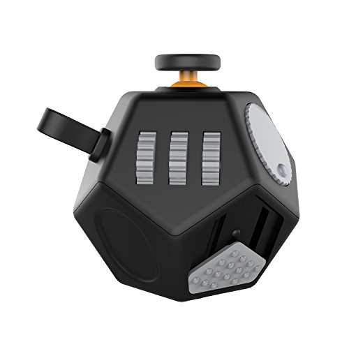 Fidget Cube Decompression Cube Relieves Anxiety And Stress For Children Teens Adults,Easy To Carry And Use (Black)