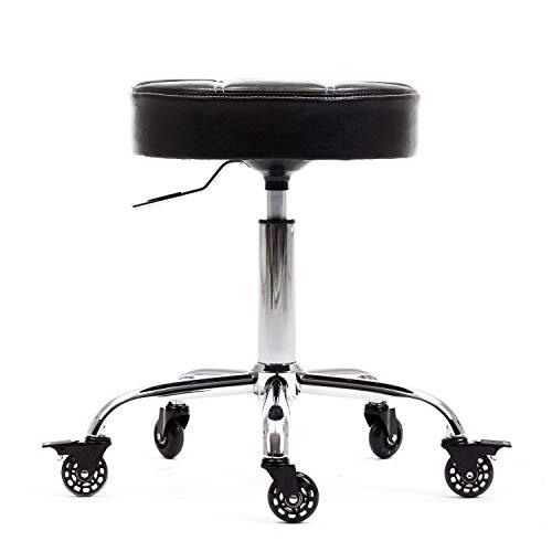 CoVibrant Ergonomic Lockable Rolling Stool Adjustable Swivel for Medical Doctor Office Spa Kitchen Desk Esthetician Artist Exam Room