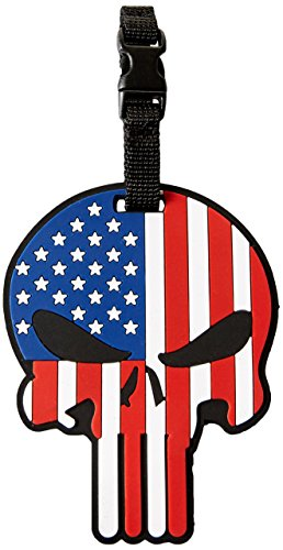 5ive Star Gear 6674 Patriotic Punisher Luggage Tag 3.25