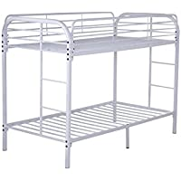 Glory Furniture G0016-WHITE Bunk Bed, Twin, White