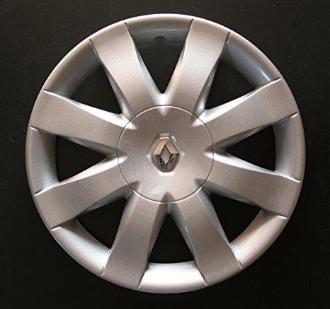 Set of 4 new wheel trims for Renault Clio 3 / Scenic 2 / Megane 2 / Megane 3 / Modus/Laguna 2 / Laguna 3 / Espace 4 / Vel Satis/Twingo 2 / Kangoo 2 with ...