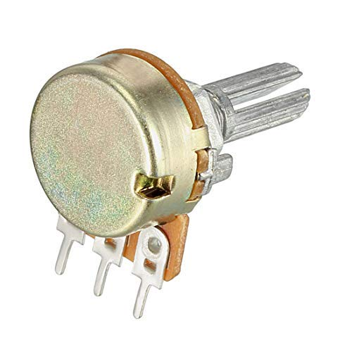 WH148 Variable resistors of 100 K ohms Rotary conical Potentiometer of Single-Turn Carbon Film 5 Pieces