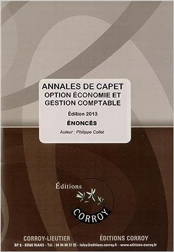 Annales de CAPET Economie et gestion option B : Enoncés pdf, epub ebook