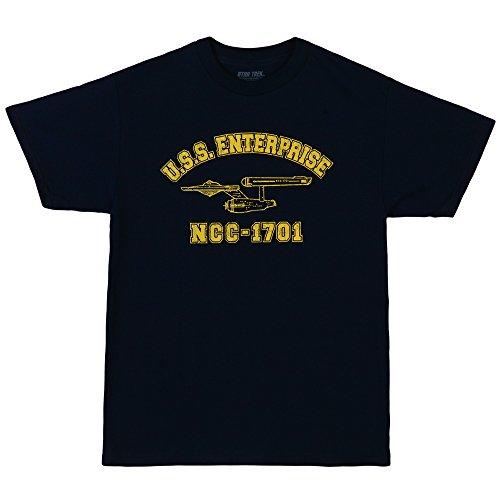 (Star Trek USS Enterprise NCC-1701 Athletic Adult T-Shirt - Navy (XXXX-Large))