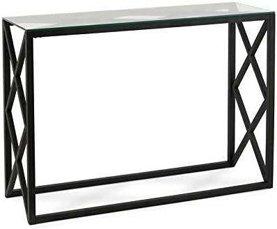 Henn Hart Blackened Bronze Geometric Console Table
