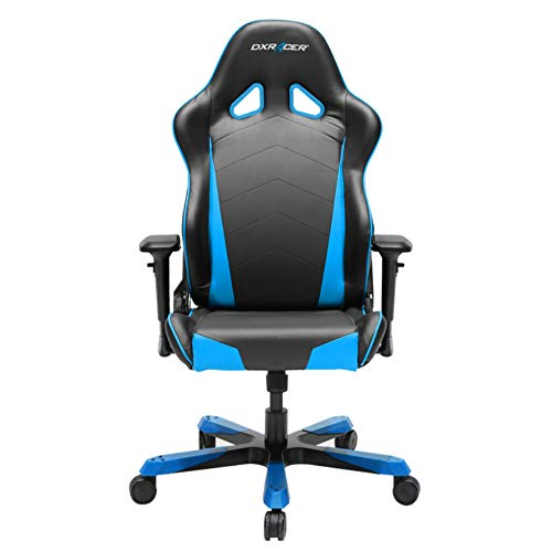 DXRacer Tank Series DOH/TS29/NB Big and Tall Chair Racing Bucket Seat Office Chair Gaming Chair Ergonomic Computer Chair Esports Desk Chair Executive Chair Furniture with Pillows (Black/Blue) by DXRacer