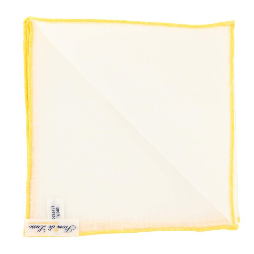 x 12 New Fiori Di Lusso White Geometric Pocket Square