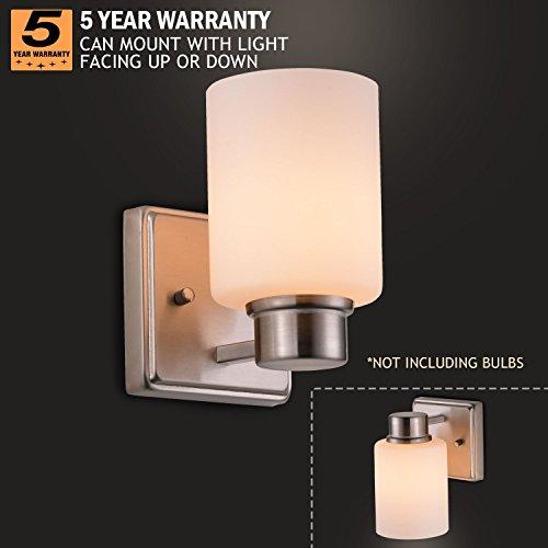 Sunnyfair Bulb Vanity Lamp Shade Wall Light Fixture Brushed Nickel - Bathroom vanity lights facing up or down