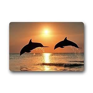 """Nuevo personalizado delfines con Sunken Ship Felpudo tamaño 24""""x16"""" uh-dm438"""