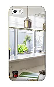 Flexible Tpu Back Case Cover For Iphone 5/5s - Modern Kitchen With Stainless Steel Sink And Marble Cutting Block