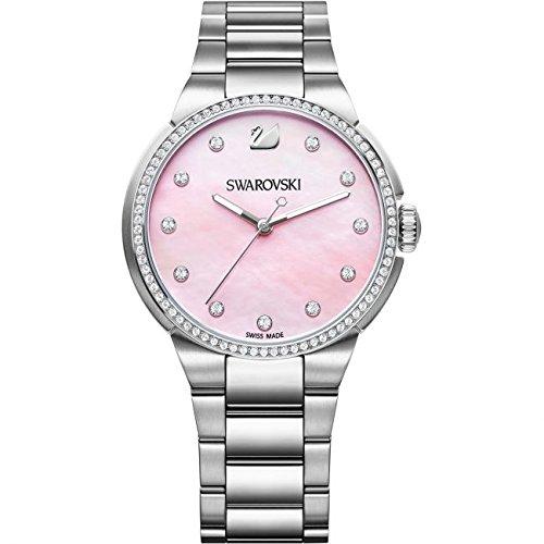 Swarovski Reloj analogico para Mujer de Cuarzo con Correa en Acero Inoxidable 5205993: Amazon.es: Relojes