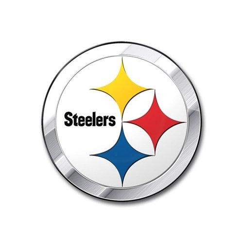 (Pittsburgh Steelers Colored Aluminum Car Auto Emblem)