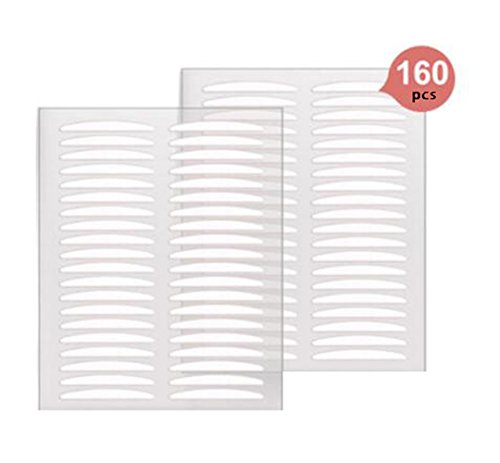 160pcs Invisible Beauty Double Eyelid Tape Stickers Instant Eyelid Lift Without Surgery Medical Grade Latex Free Hypoallergenic Perfect for Hooded Droopy Uneven Mono-eyelids (Lift Eyelid Surgery)