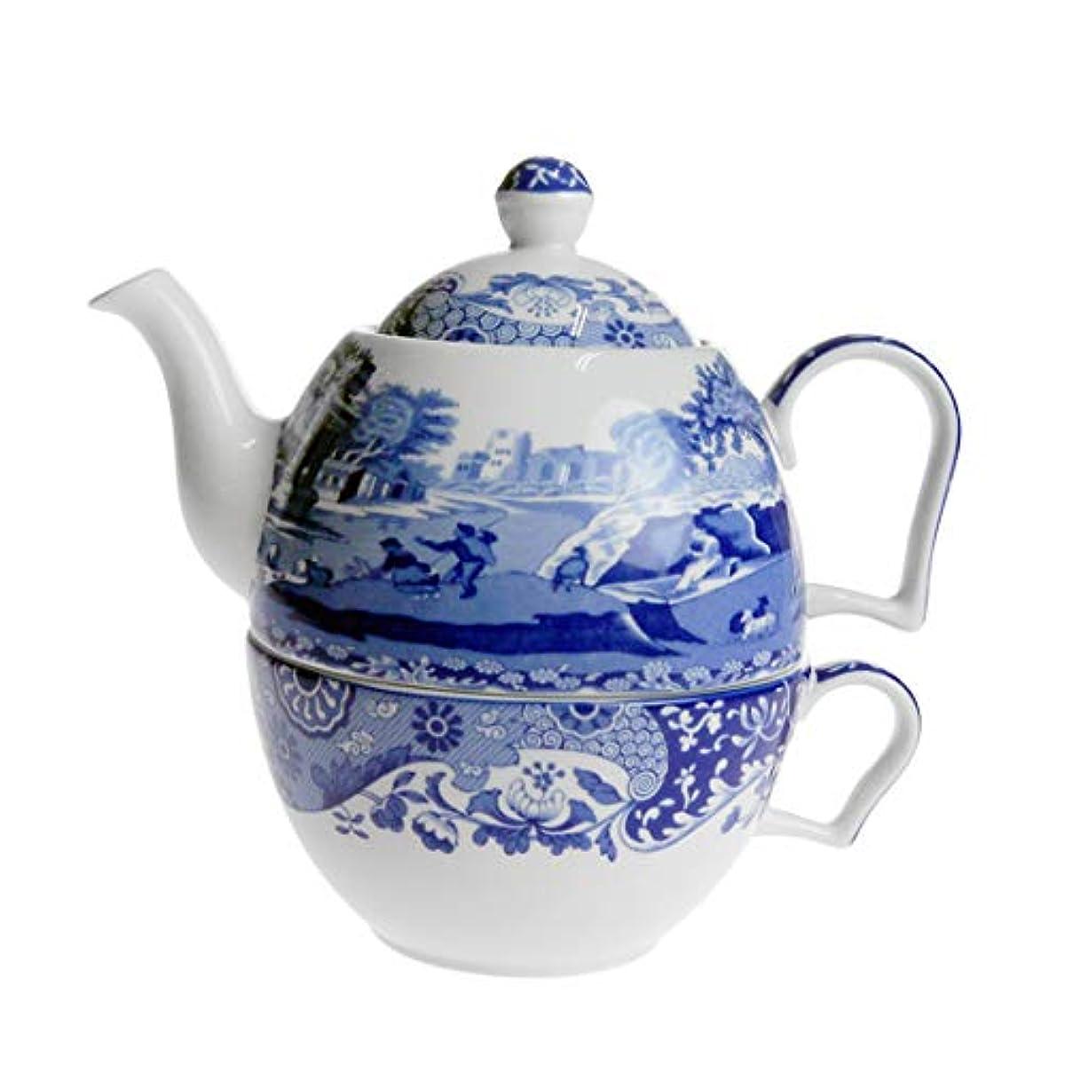 [해외] 스포드 블루 이탈리안 컵 티포트 0.45L