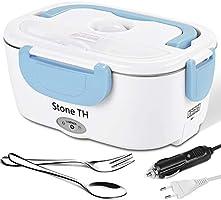 Stone TH Lunch Box Chauffante Electrique, 2 en 1 Double Tensions Boite Chauffante Repas Inox, Gamelle Chauffante...
