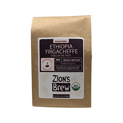 Zion's Brew Premium Gourmet Ground Coffee - 12 Ounces (Ethiopia Yirgacheffe)