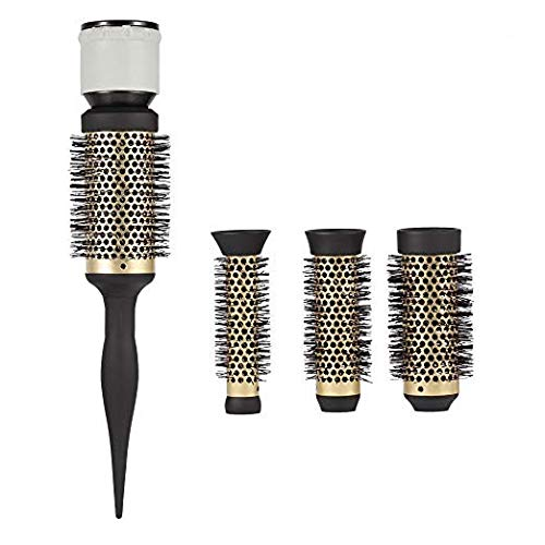 Round Curly Hair Comb Diffuser, Fashion Ceramic Ionic Salon Styling Barrel Blow Dryer Hairdressing Accessory for Shine Smooth Sleek Curling Wave Drying Tools ZJchao