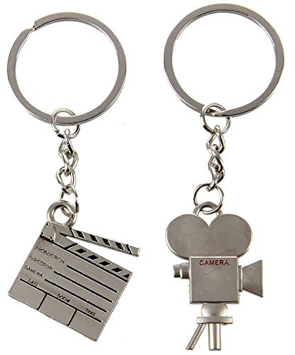 Clapper Board & Movie Camera Keychain ()