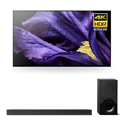 Sony XBR-55A9F 55″ Master Series BRAVIA OLED 4K HDR TV and HT-X9000F 2.1-Channel Dolby Atmos Soundbar with Subwoofer