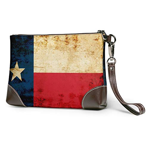 Texas Flag Leather Wristlet...