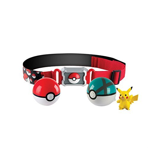 Tomy Pokemon Clip N Carry Poke Ball 2 inch Action Figure with Belt - Pikachu Hot Seller Items from Unbranded