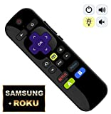 IKU-P81 Universal IR Remote for ROKU Players w/ Samsung Power + Volume/Mute + LEARNING [NOT Support Roku Stick]