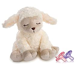Summer Infant 6 Sound Sleep Soother Lamb with Cry Activation & Newborn Soothie Pacifiers, Pink
