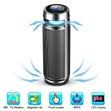 Car Ionizer Air Purifier,Car Air Cleaner with HEPA Active Carbon Filter and 8