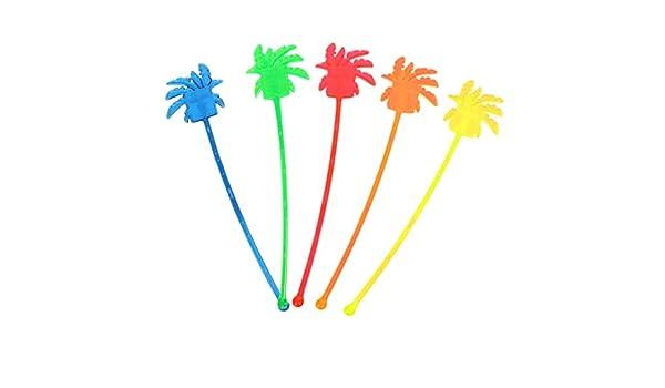 PRETYZOOM Cocktailr/ührer kunststoff R/ührer Sticks Kokosnussbaum Form Cocktail Stirrer St/äbchen f/ür Kaffee Getr/änke Sommer Hawaii Party Dekoration Ornament 50 St/ück