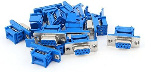 100 X TERMINALE BLU 12mm Pin Connettore a crimpare
