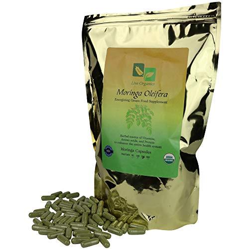 Moringa Capsules 500 mg – Certified USDA Organic 540 ct