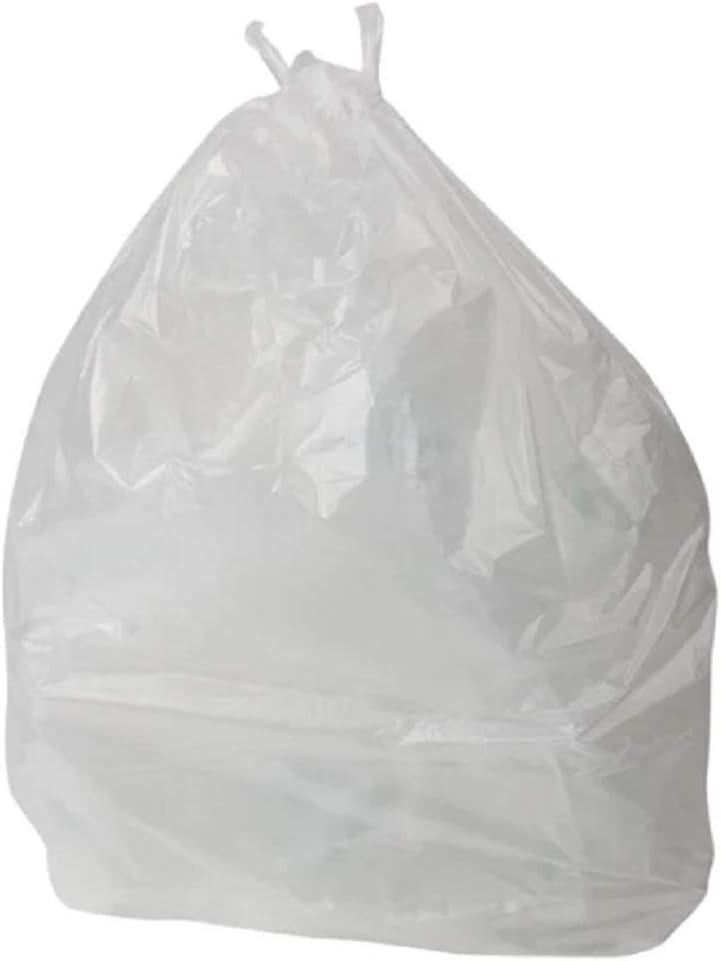 20, 10L LeahWard White Clear Waste Bin Bag House Hold Bin Liner