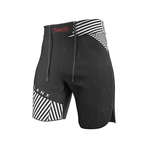 Mens Fight Shorts for BJJ MMA, Competition Grade Jiu Jitsu Gear for Men Black and White ()