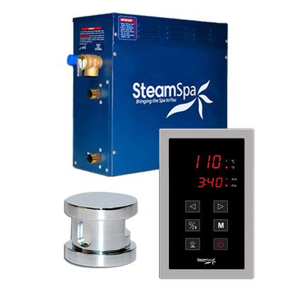 Steam Spa OAT450CH Oasis 4.5 KW Quick Start Acu-Steam Bath Generator Package, Chrome