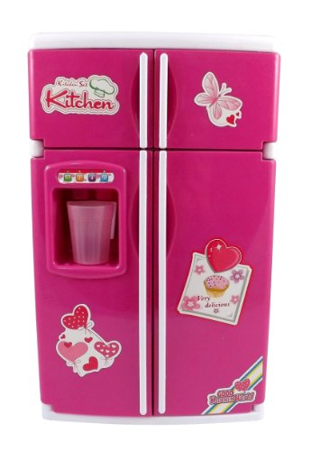 Dream Kitchen Mini Refrigerator Pink Toy Fridge Playset