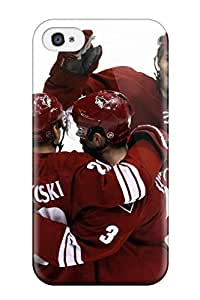 Ultra Slim Fit Hard DanRobertse Case Cover Specially Made For Iphone 4/4s- Phoenix Coyotes Hockey Nhl (60)