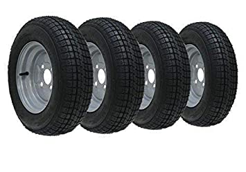 """4 - 10 """"rueda del remolque de la pulgada y neumático 145 10 6"""
