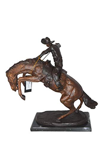 (Bronco Buster Bronze Statue by Remington - Size: 9