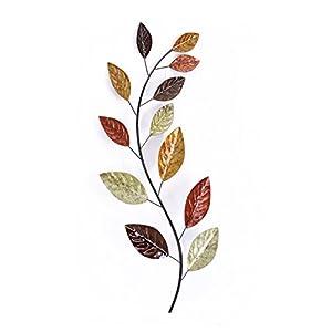 Amazon Com Asense Tree Leaf Metal Wall Art Sculptures