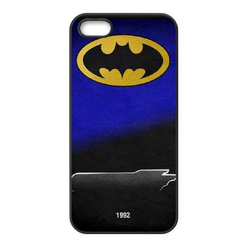 Batman Batmobile coque iPhone 5 5S Housse téléphone Noir de couverture de cas coque EBDOBCKCO09571