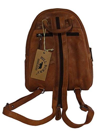 Hill Burry Rucksack, Lederrucksack, Vintage, Backpack, Tasche, cognac