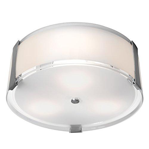 Cheap Access Lighting Tara 14″ LED Flush-Mount – Brushed Steel Finish with Opal Glass Shade