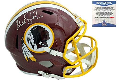 Alex Smith Autographed Signed Washington Redskins Speed Helmet - Beckett Authentic ()
