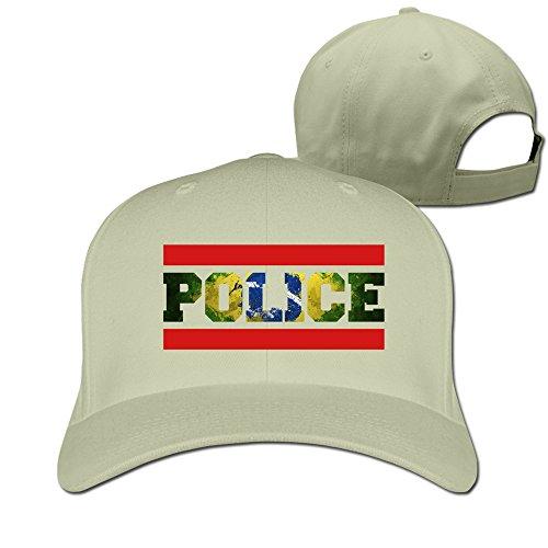 [IYaYa New Fashion Police Brazil Adjustable Peaked Cap Hats] (Cheap Police Hats)