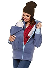TUOKING Mom Kangaroo Sweater Newborn Baby Happy Carrier Hoodies Jackets