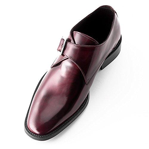 Masaltos Scarpe con Rialzo per Uomo Che Aumentano l'Altezza Fino a 7 cm. Fabbricate in Pelle. Modello Bari Bordeaux