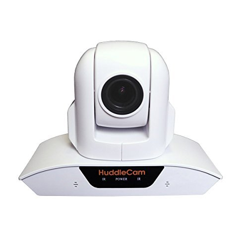 HuddleCamHD 3X USB 2.0 1080p PTZ Conferencing Camera with Built-In Microphone Array - White by Huddlecam