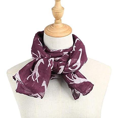 4b3efa67628 TOOGOO Chale Foulard en Mousseline de soie Foulards Longue echarpe  Accessoire (Voile Violet (90cmx180cm))  Amazon.fr  Vêtements et accessoires